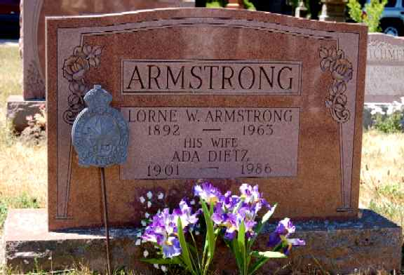Lorne Armstrong's Gravestone